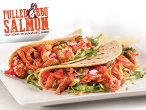 pulled bbq salmon tacos