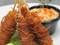Russet-Wrapped Shrimp Pops