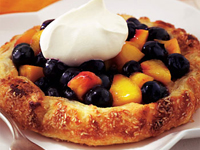 Rustic Blueberry Nectarine Pie