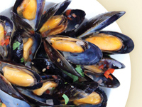 Sweet Thai Mussels
