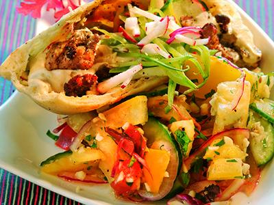 Pork Shawarma in Pita