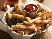 Hushpuppy-Coated Fish and Beer Battered Chips Bucket