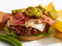 Texas-Style Burger Featuring Heinz® Honey Barbeque Sauce