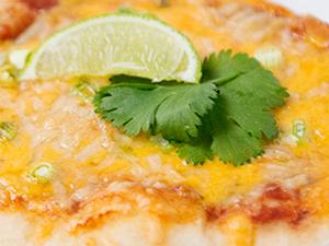 three cheese quesadilla pizza