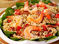 Bistro Shrimp and Spinach Rice Salad
