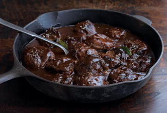 Braised Veal Cheeks with Bourbon Street Red Gravy