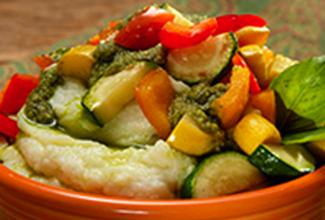 Vegetable Pesto Mashed Potato Bowl