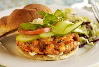 Wasabi Salmon Burger