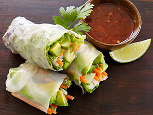 Avocado-Shrimp Spring Rolls