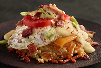 Bacon & Cheddar Hashbrown Stack