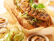Chicken and Almond Sausage Banh Mi Sandwich