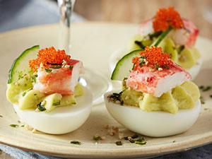 California Roll Deviled Eggs