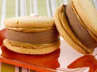 Chocolate-Peanut Butter Ice Cream Sandwiches