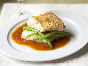 Cod With Local Green Beans and Soy-Sherry Sauce