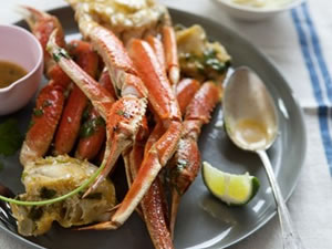 Lime Chipotle-Roasted Alaska Snow Crab