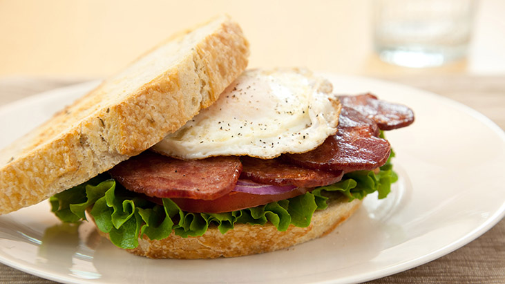 New American duck bacon BLT
