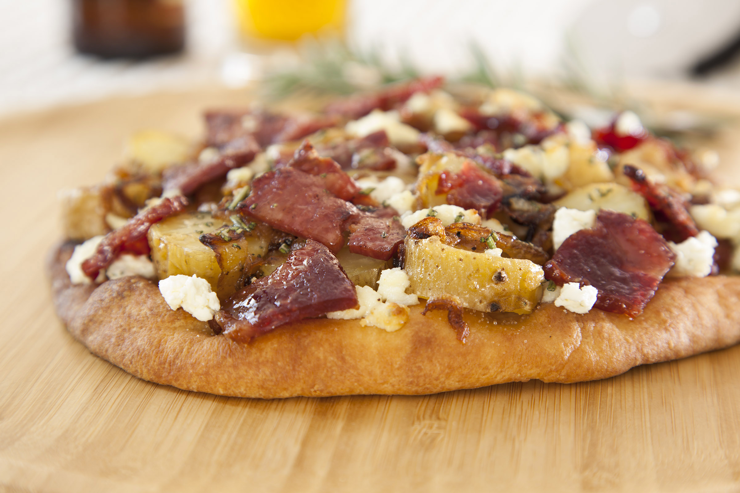 Duck Bacon Pizza