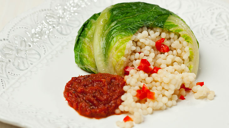 romaine couscous cauliflower