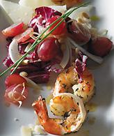 Shrimp, Grapes and Manchego