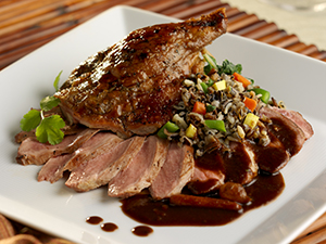 Grasing Duck and Wild Rice