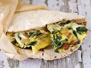 Green Frittata Wrap