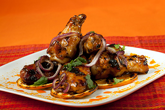 Grilled Chicken Wings with Florida Orange Mescal Glaze