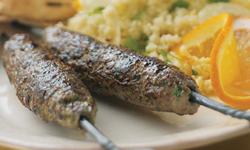 Skewered Spiced Lamb Kafta