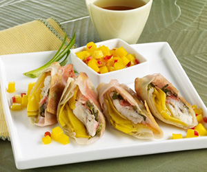 Crispy Mango Fish Rolls