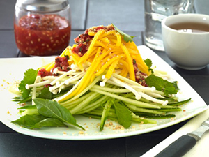 Mango and Green Papaya Salad