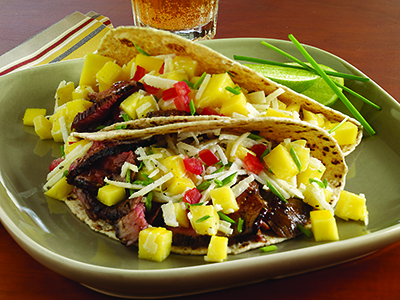 Lamb Tacos with Mango Jicama Slaw