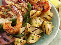 Mediterranean Grilled Idaho® Potato Salad with Seafood