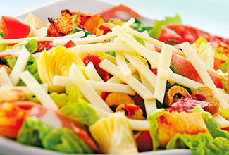 Muff-a-lotta Salad with Wisconsin Provolone Cheese