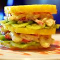 Pineapple Sandwich with Vanilla Sauce