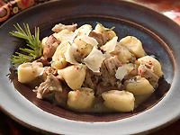 Braised Turkey and Homemade Potato Gnocchi
