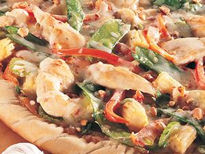 oriental stir-fry pizza