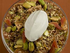 Pistachio-Orange Granola