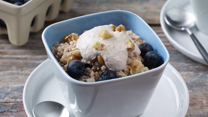 Breakfast Quinoa with Walnut Cream
