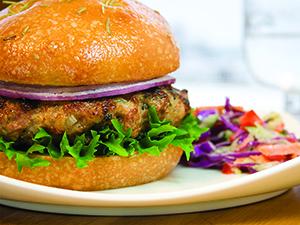 Focaccia duck burger