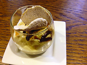 Fennel Ice Cream with Rice Paper Chips