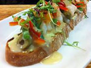 Shrimp Tartine
