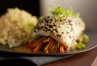 Sesame Seared Wild Alaska Sole Rolls