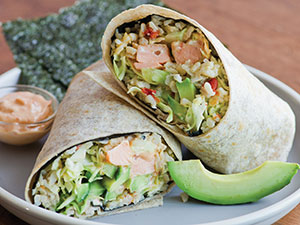 sharkys salmon burrito