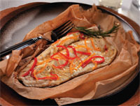 Oven-Steamed Rainbow Trout in Parchment