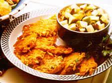 Sweet Potato Fritters with Jalapeño Molasses