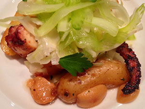 Octopus Salad with Butterball Potatoes, Roasted Garlic and Lemon