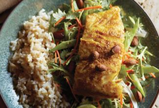 Thai Seared Wild Alaska Cod Salad