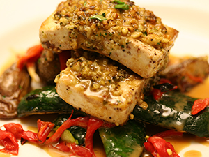 Walnut-Crusted Tofu