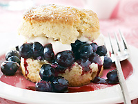 Blueberry Cassis Shortcakes