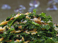 Braised Kale with Almonds