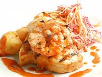Charred Line Caught Swordfish & Long Bay Shrimp with Western Carolina BBQ Sauce